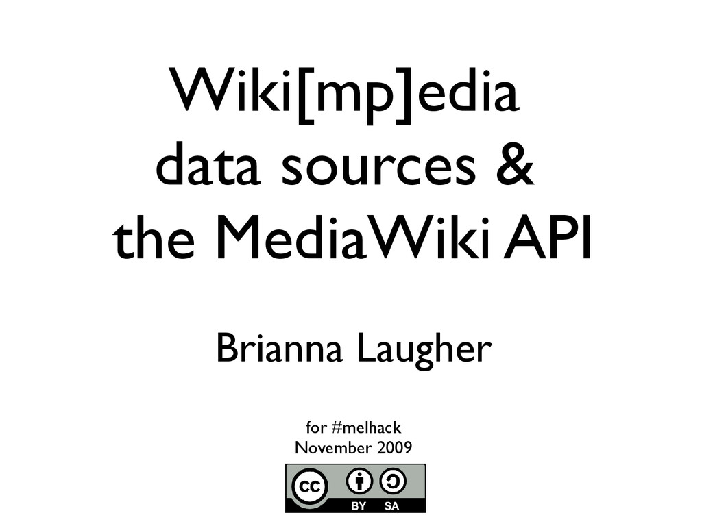 Wiki[mp]edia data sources & the MediaWiki API B...