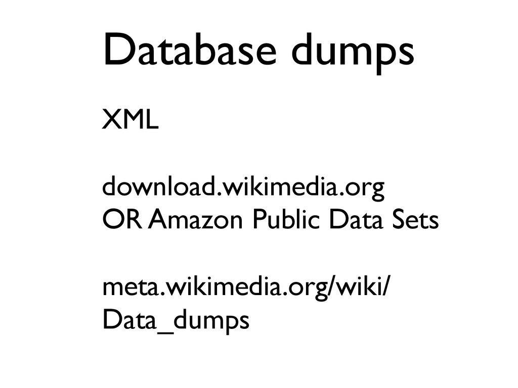 XML download.wikimedia.org OR Amazon Public Dat...
