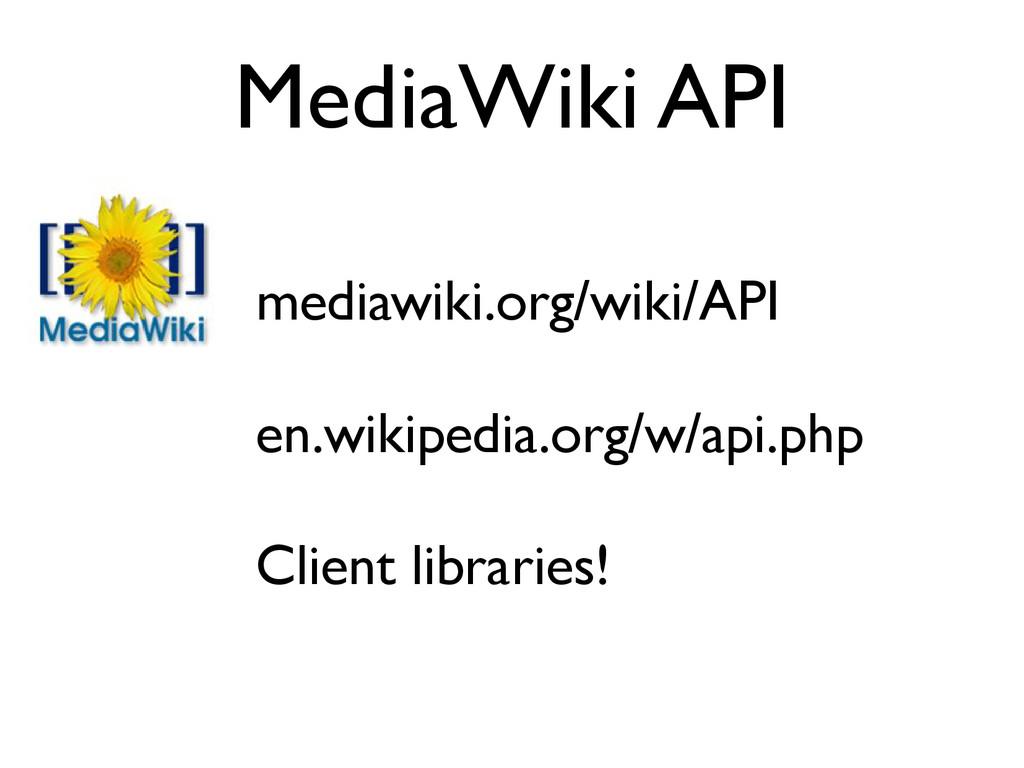 MediaWiki API mediawiki.org/wiki/API en.wikiped...