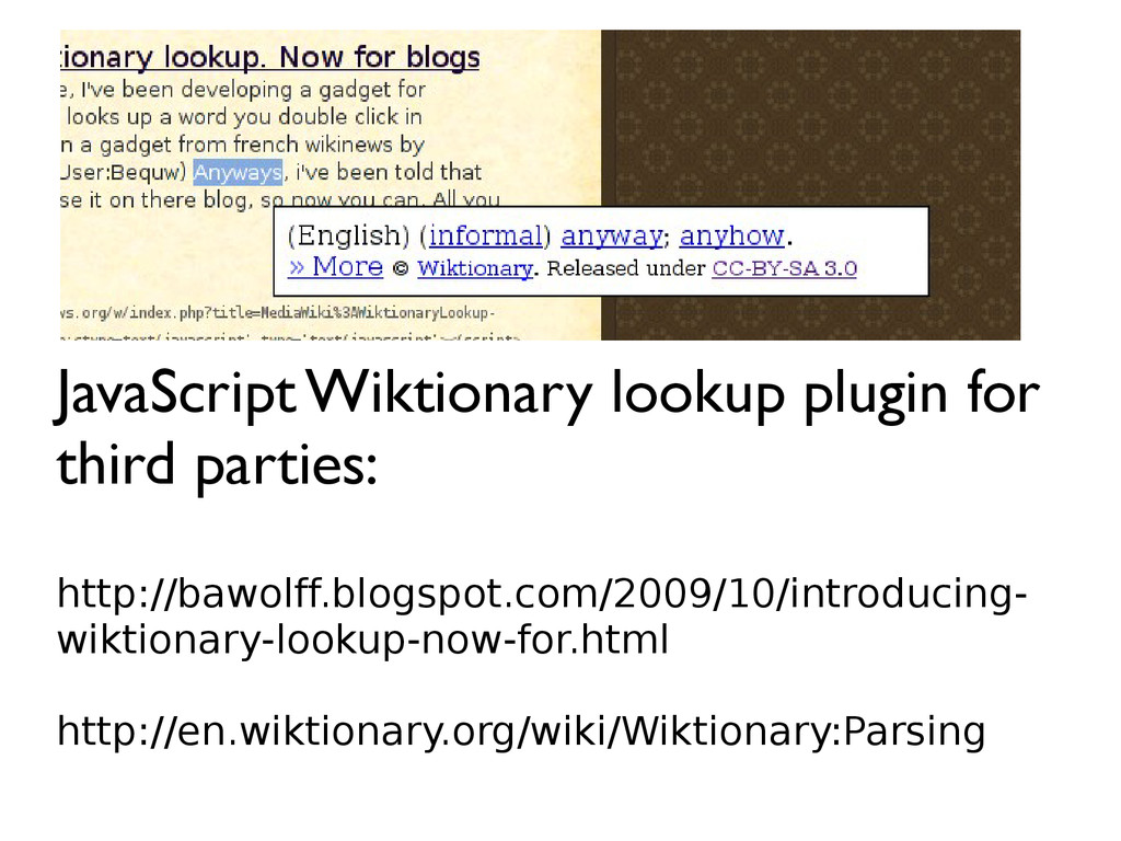 JavaScript Wiktionary lookup plugin for third p...