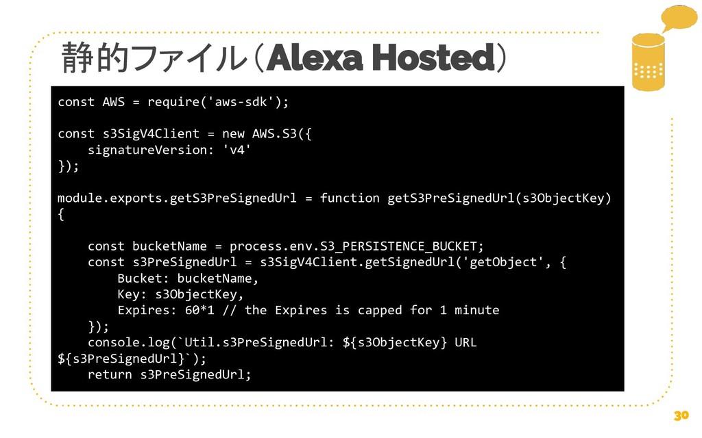 静的ファイル( ) const AWS = require('aws-sdk'); const...