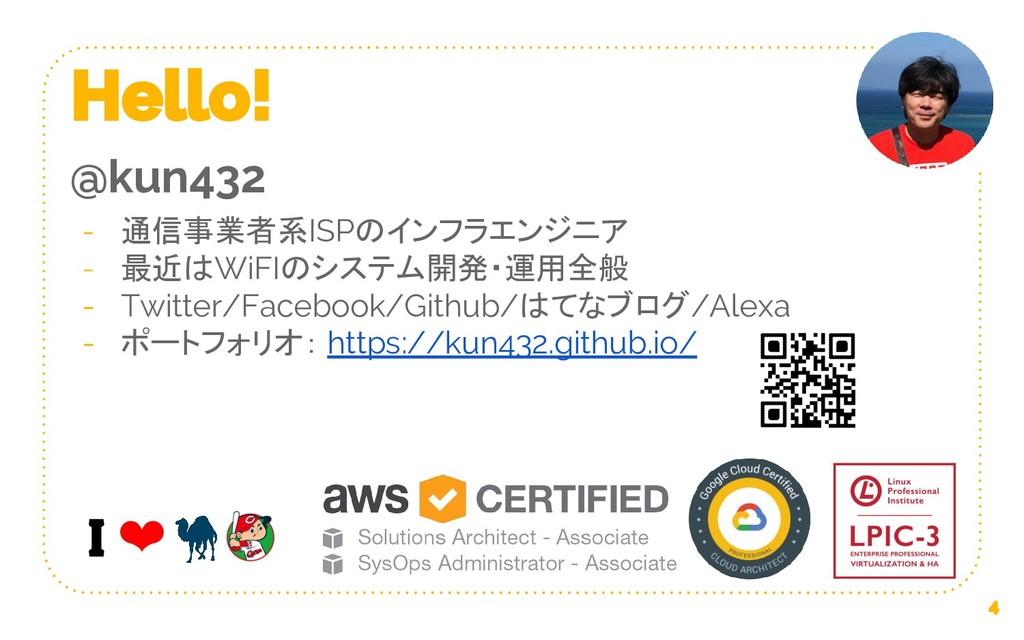 @kun432 通信事業者系ISPのインフラエンジニア 最近はWiFIのシステム開発・運用全般...