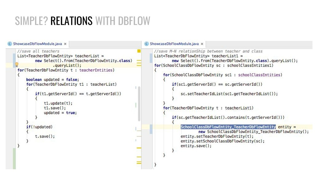 SIMPLE? RELATIONS WITH DBFLOW