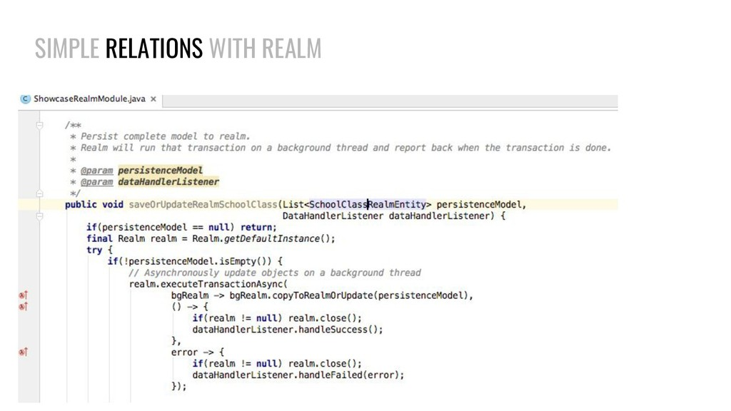 SIMPLE RELATIONS WITH REALM