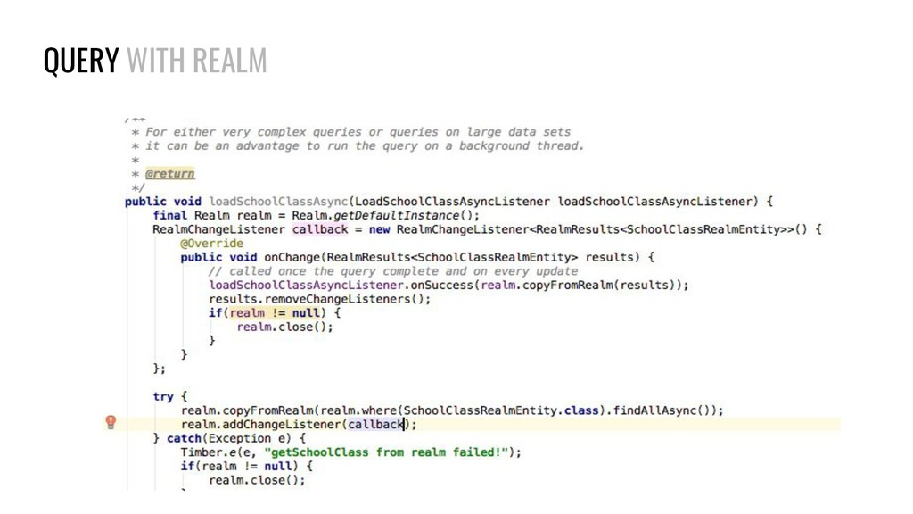 QUERY WITH REALM