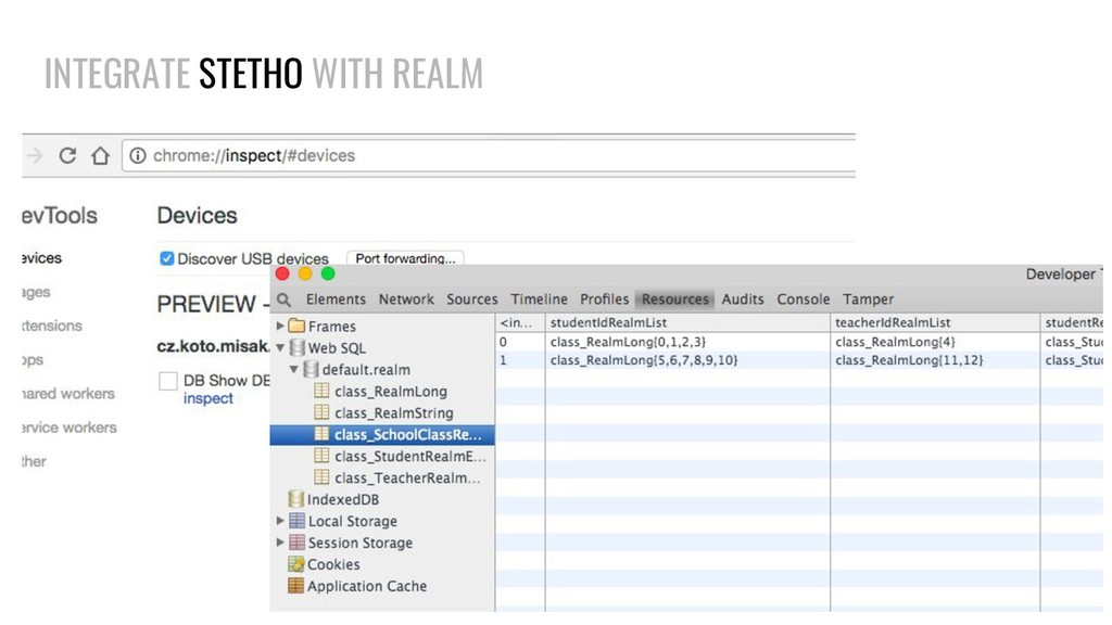 INTEGRATE STETHO WITH REALM