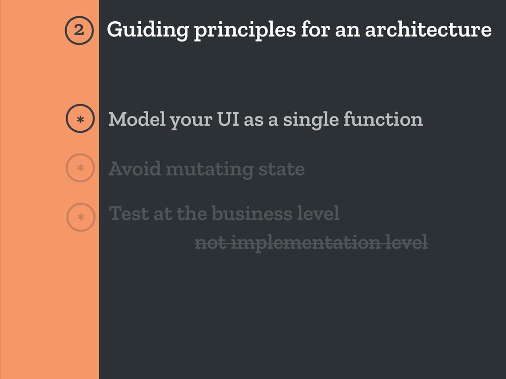 Guiding principles for an architecture * * 2 Mo...