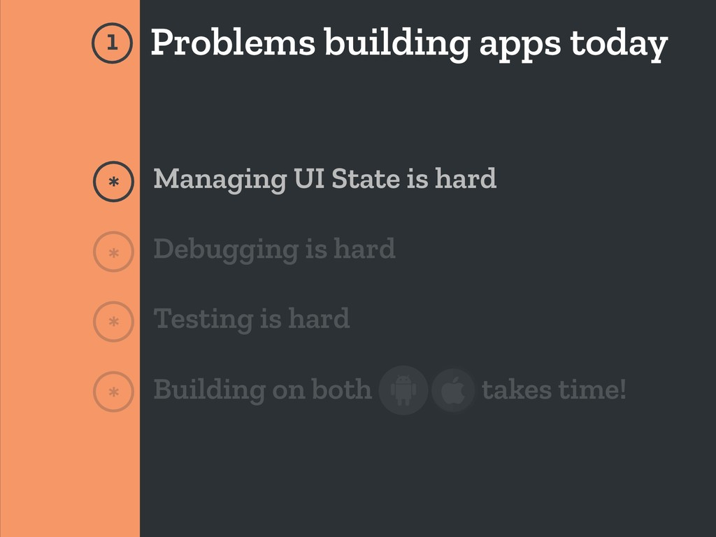 Problems building apps today * Managing UI Stat...