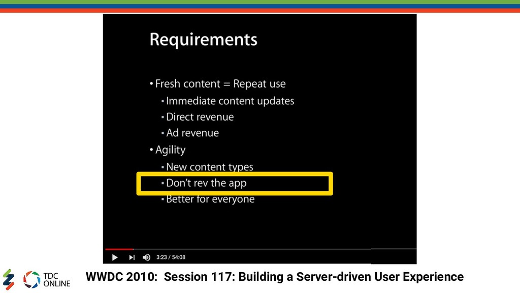 WWDC 2010: Session 117: Building a Server-drive...