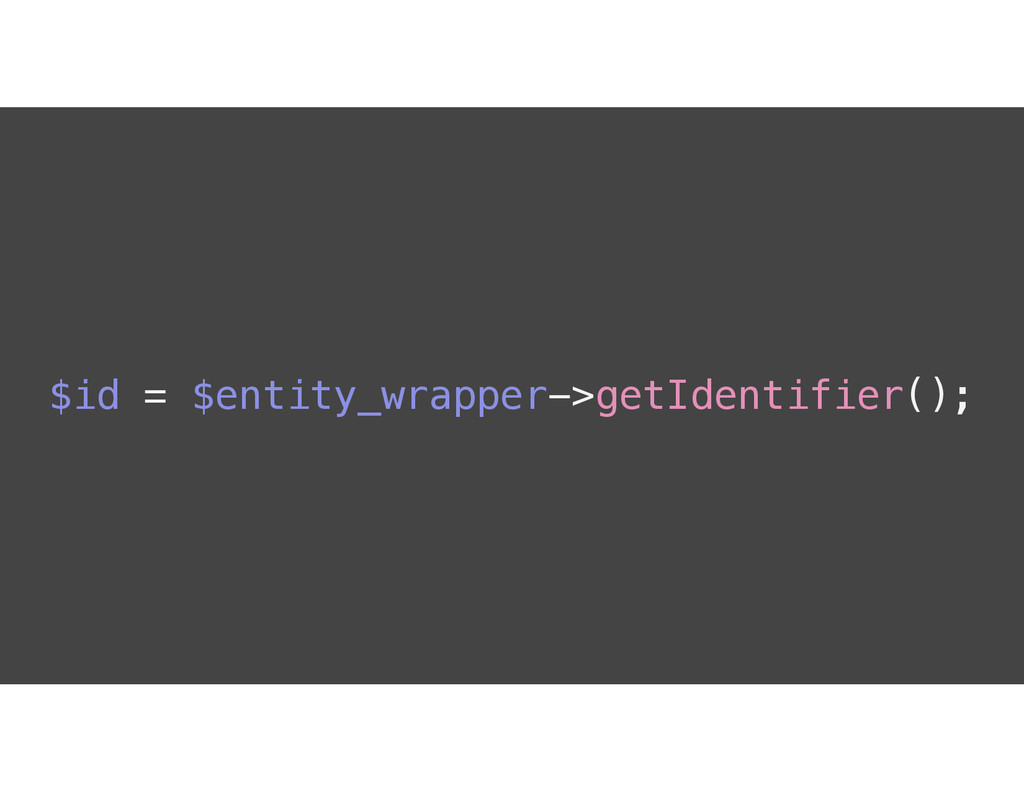 $id = $entity_wrapper->getIdentifier();