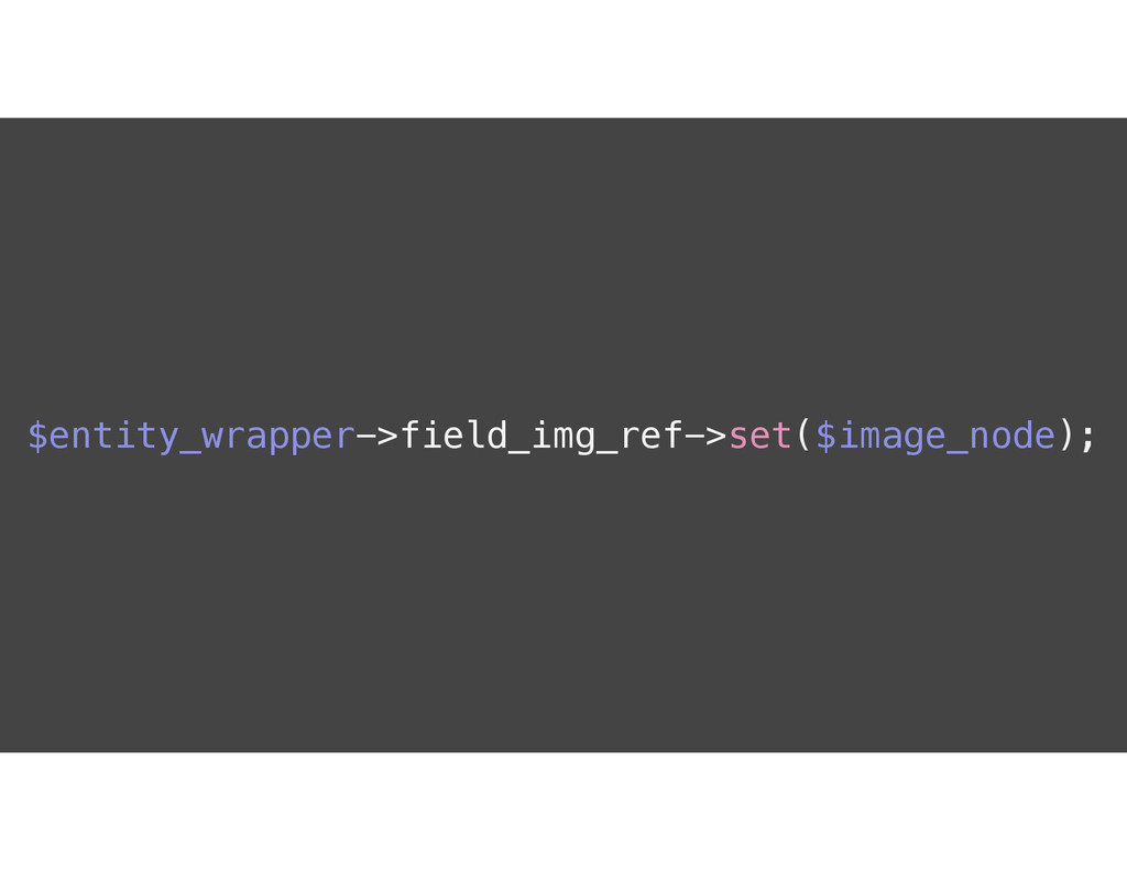 $entity_wrapper->field_img_ref->set($image_node...