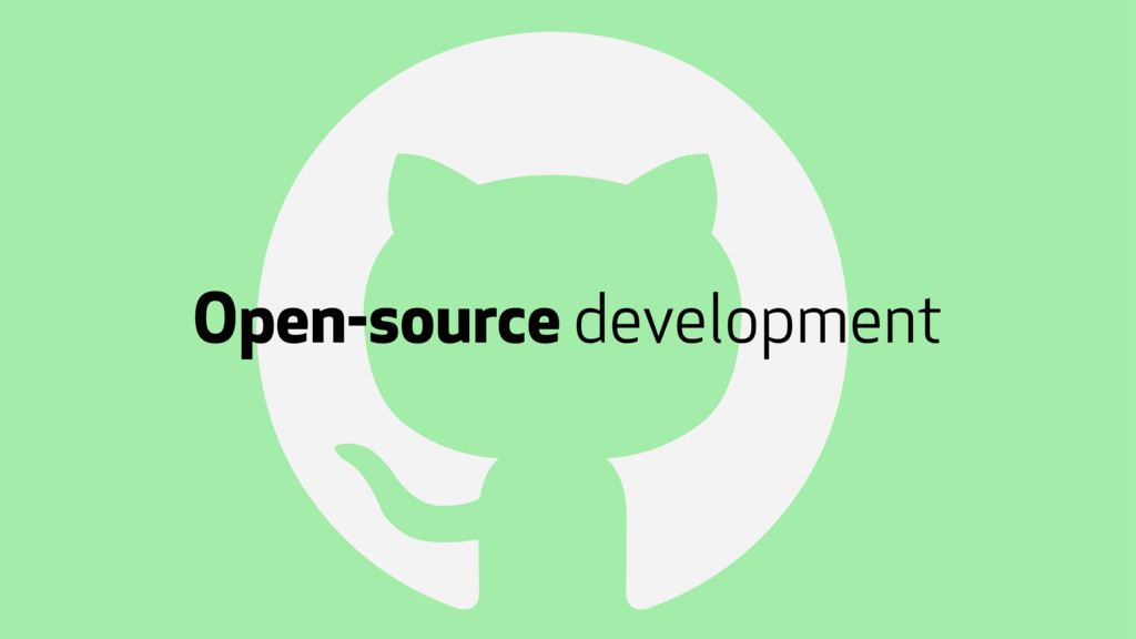 ! Open-source development