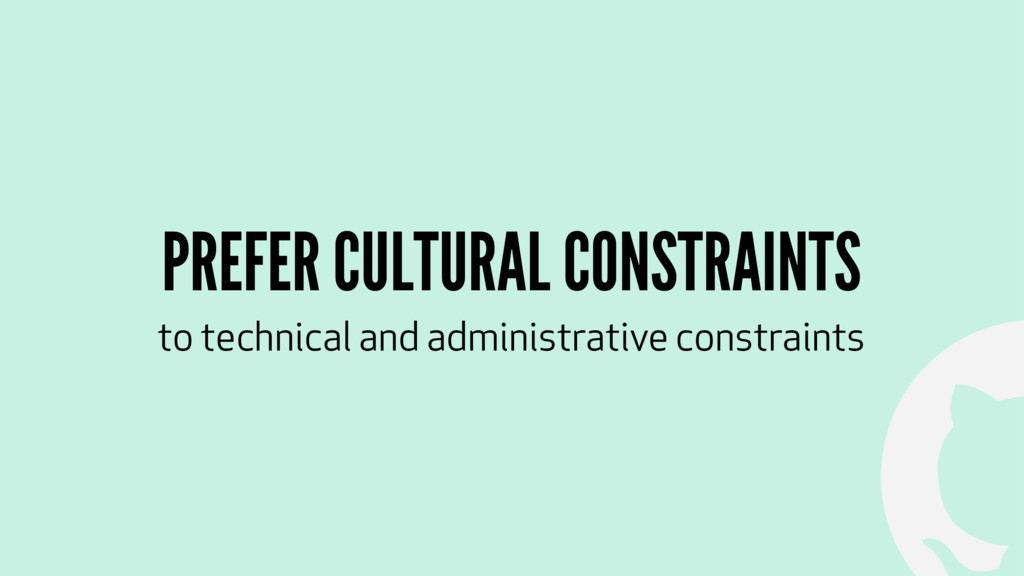 ! PREFER CULTURAL CONSTRAINTS to technical and ...