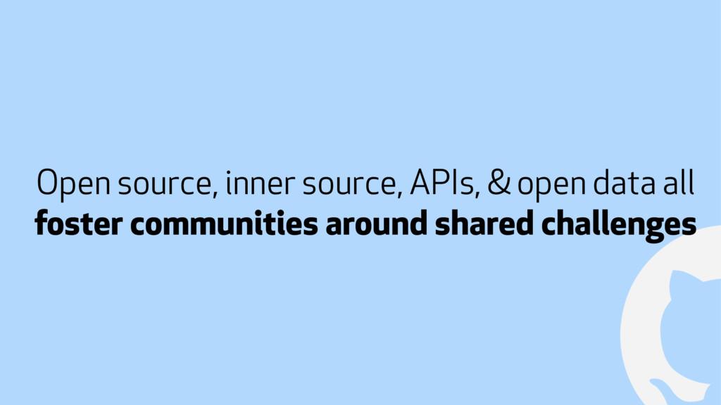! Open source, inner source, APIs, & open data ...