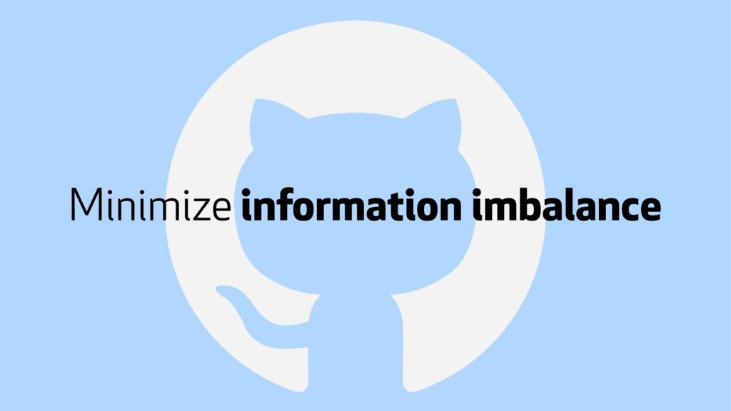 ! Minimize information imbalance