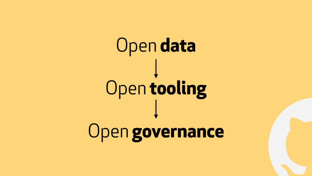 ! Open data Open governance Open tooling