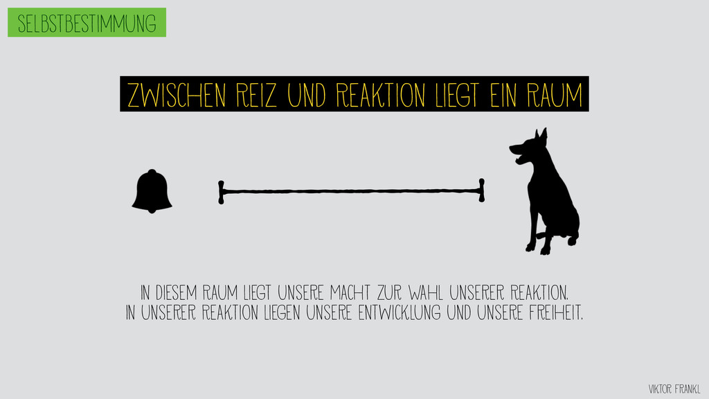 Viktor Frankl Zwischen Reiz und Reaktion liegt ...