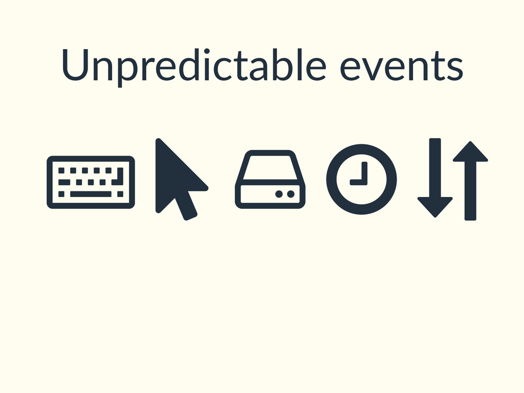 Unpredictable events ȡ Ý