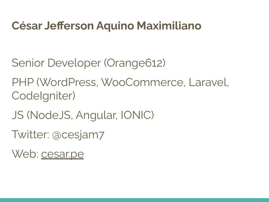 César Jefferson Aquino Maximiliano Senior Develo...