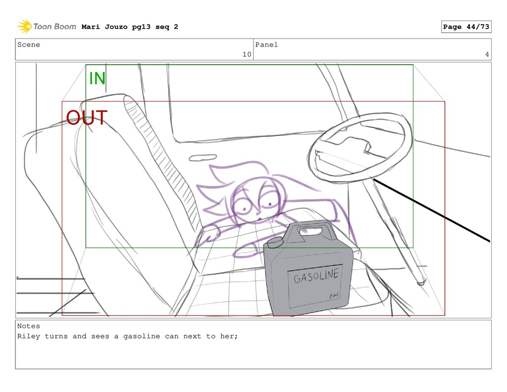Scene 10 Panel 4 Notes Riley turns and sees a g...
