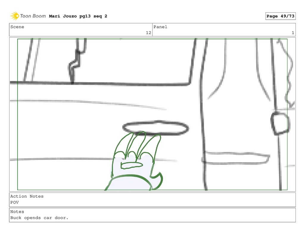 Scene 12 Panel 1 Action Notes POV Notes Buck op...