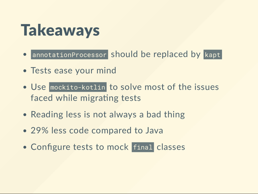 Takeaways annotationProcessor should be replace...
