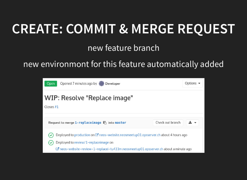 CREATE: COMMIT & MERGE REQUEST new feature bran...