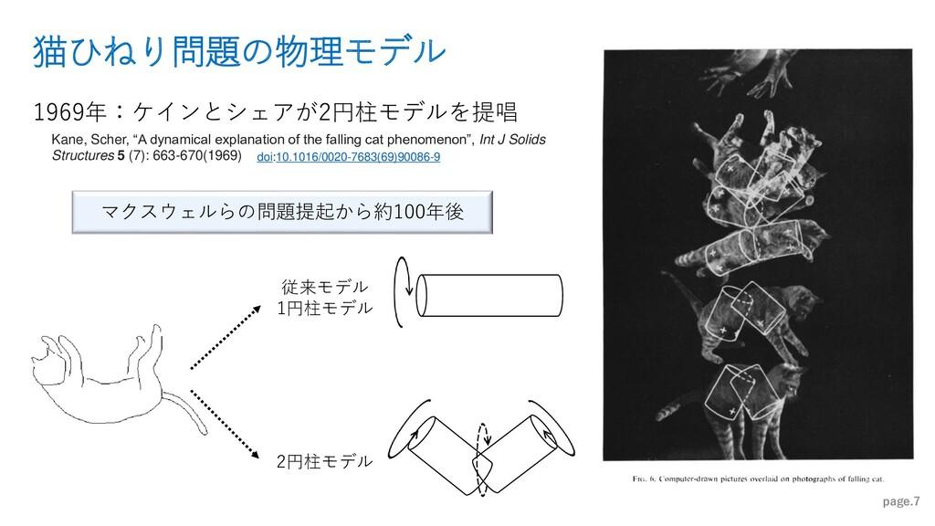 猫ひねり問題の物理モデル page.7 1969年:ケインとシェアが2円柱モデルを提唱 マクス...