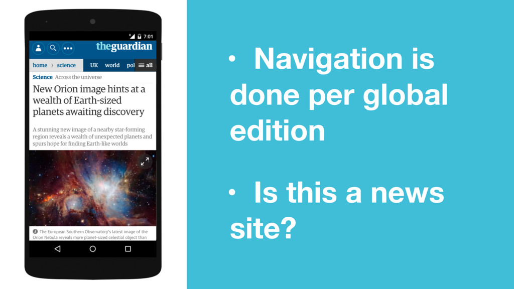 • Navigation is done per global edition • Is th...