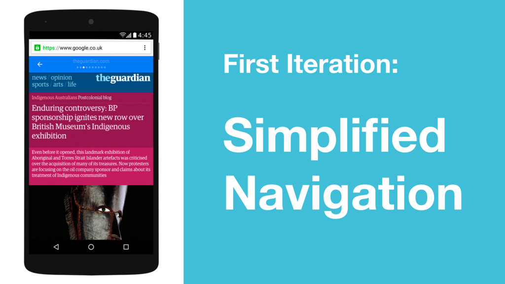 First Iteration: Simplified Navigation
