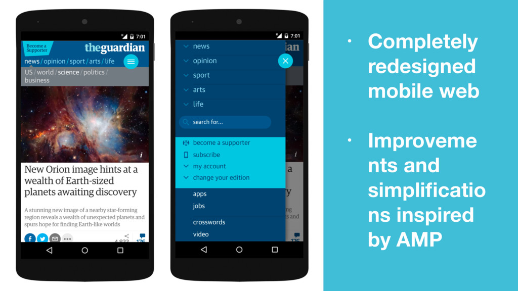 • Completely redesigned mobile web • Improveme ...