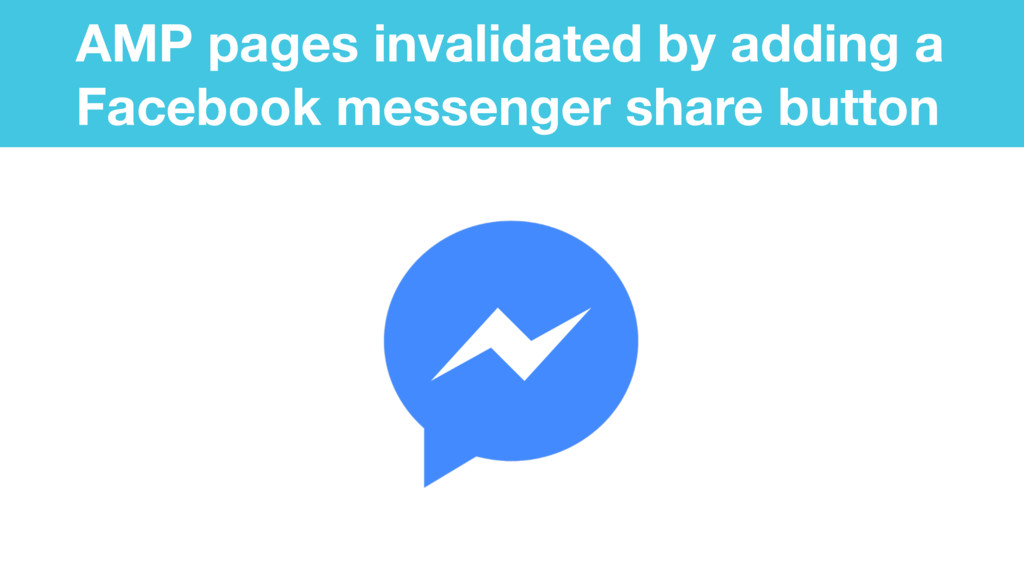 AMP pages invalidated by adding a Facebook mess...