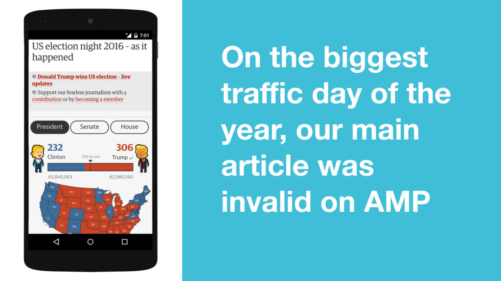 On the biggest traffic day of the year, our main ...