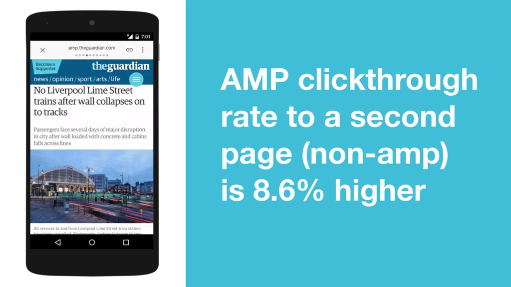 AMP clickthrough rate to a second page (non-amp...
