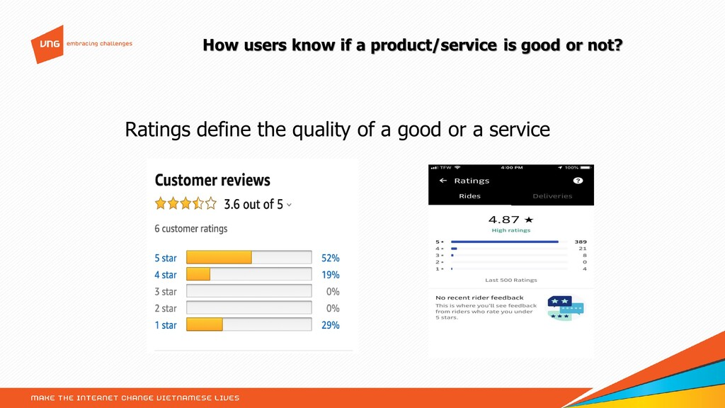 How users know if a product/service is good or ...