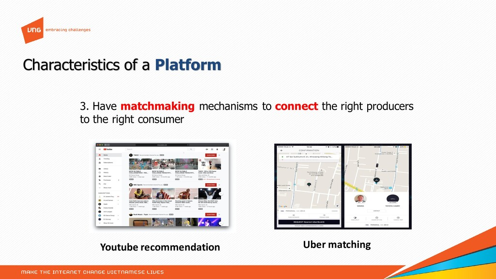 3. Have matchmaking mechanisms to connect the r...