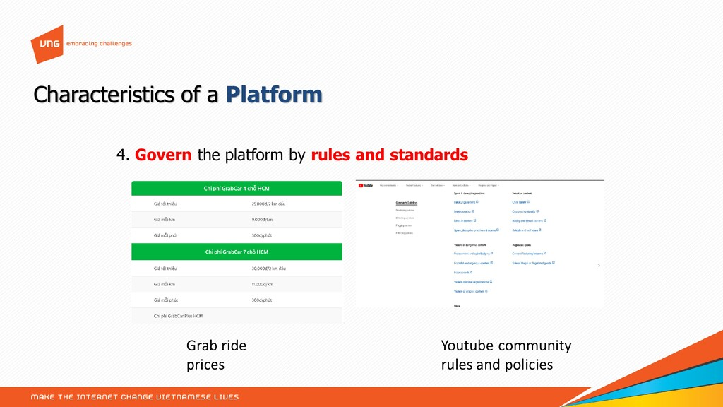 4. Govern the platform by rules and standards C...