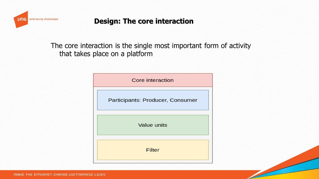 Design: The core interaction The core interacti...
