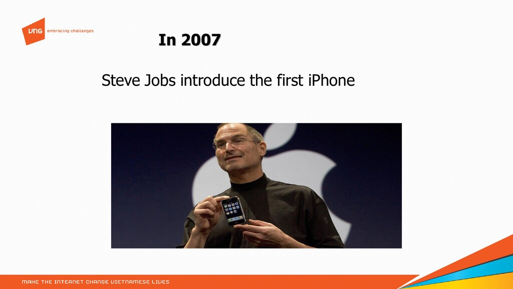 In 2007 Steve Jobs introduce the first iPhone