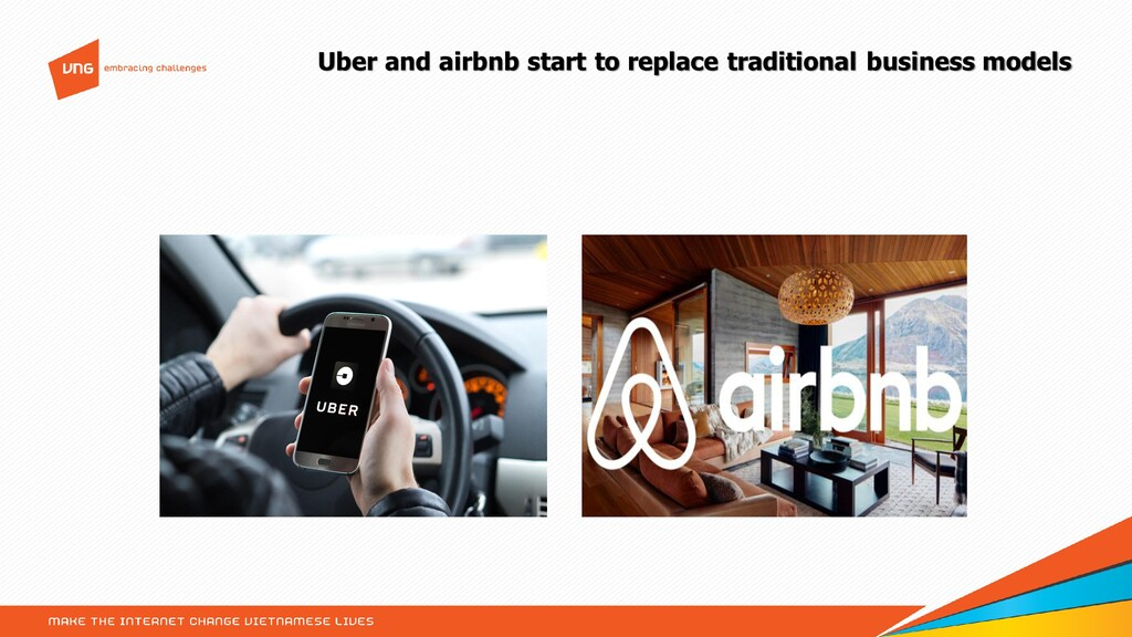 Uber and airbnb start to replace traditional bu...