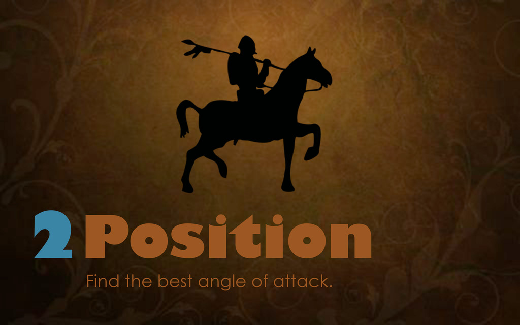 2Position Find the best angle of attack.