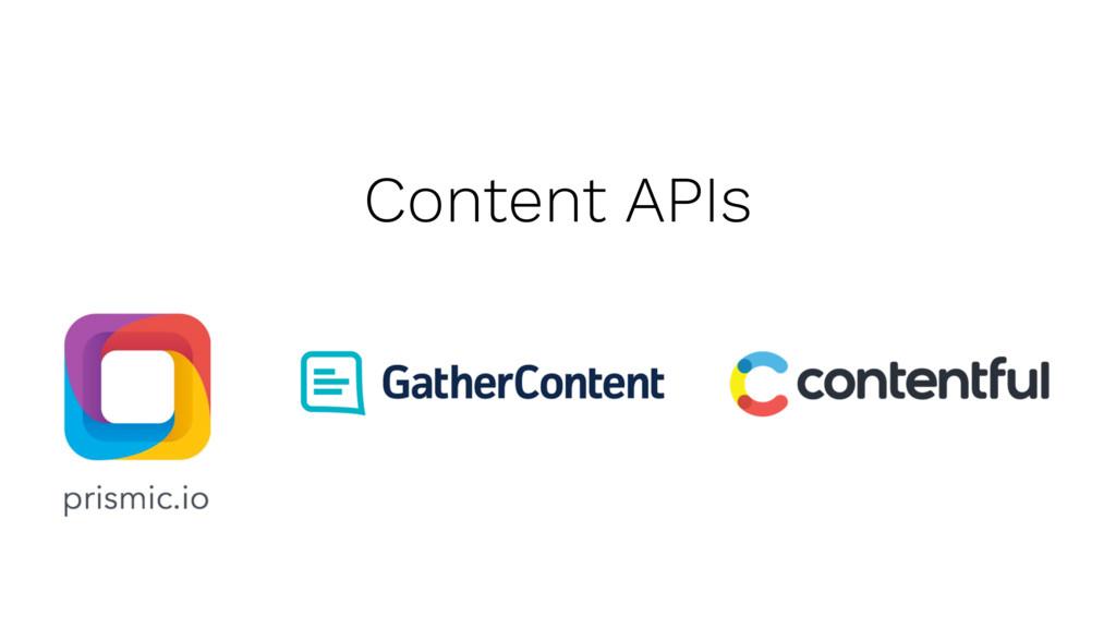 Content APIs