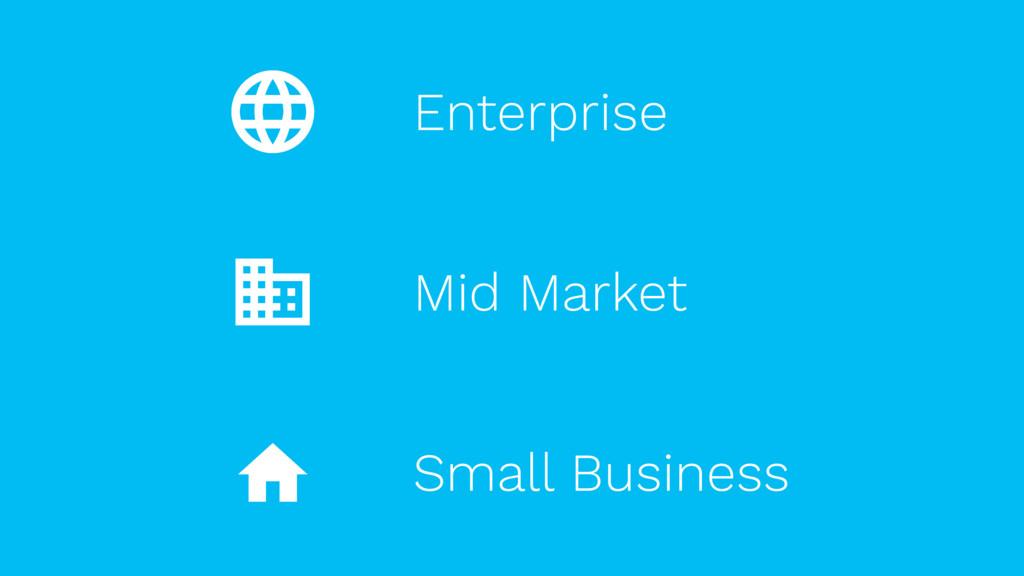 Mid Market Enterprise Small Business