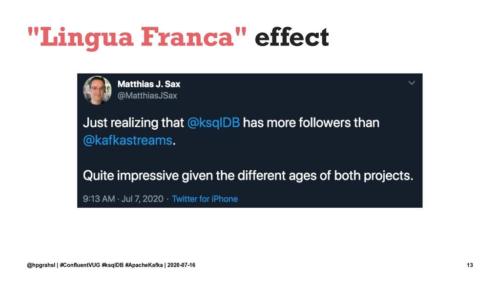 """Lingua Franca"" effect @hpgrahsl | #ConfluentVU..."