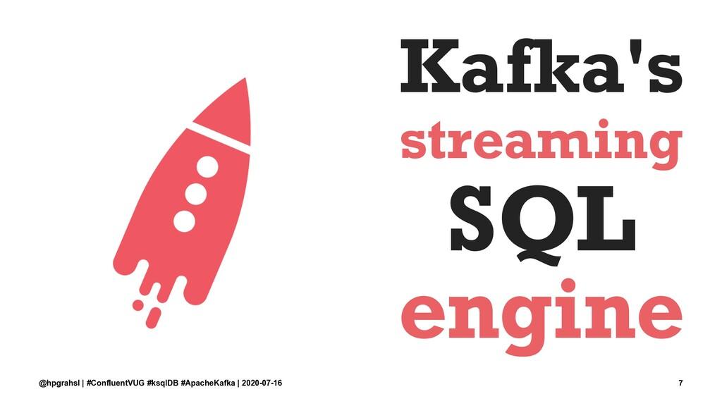 Kafka's streaming SQL engine @hpgrahsl | #Confl...