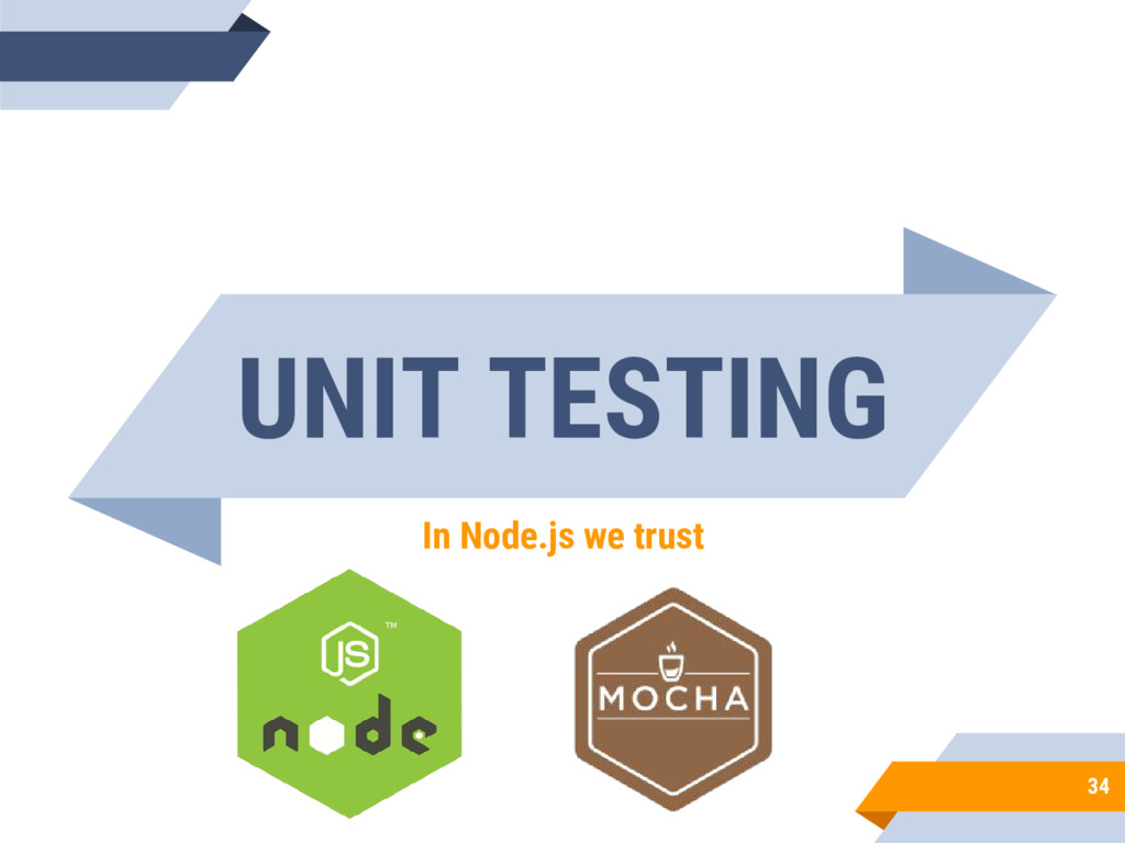 UNIT TESTING In Node.js we trust 34