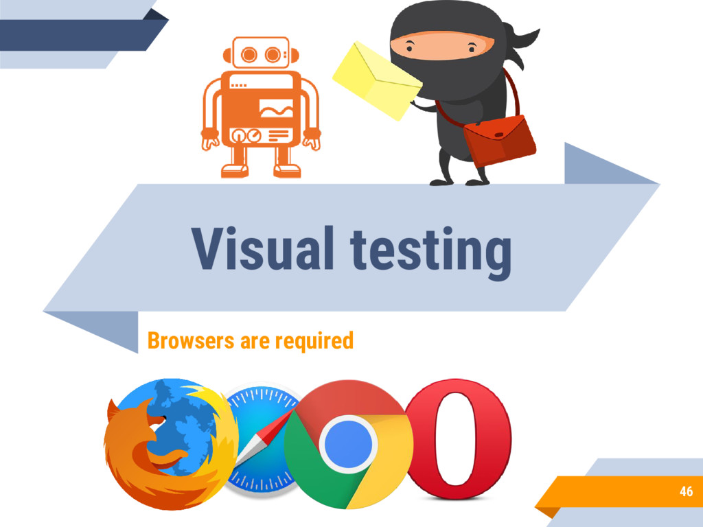Visual testing Browsers are required 46