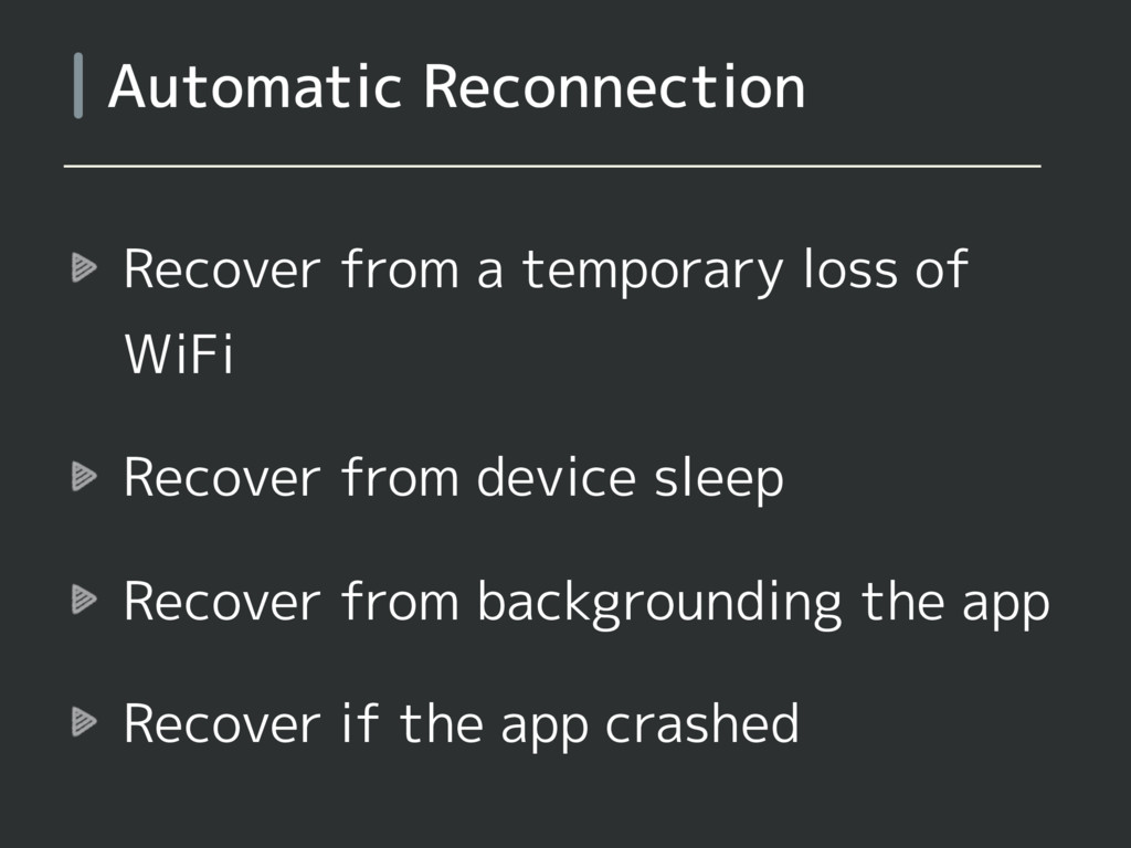 Recover from a temporary loss of WiFi Recover f...