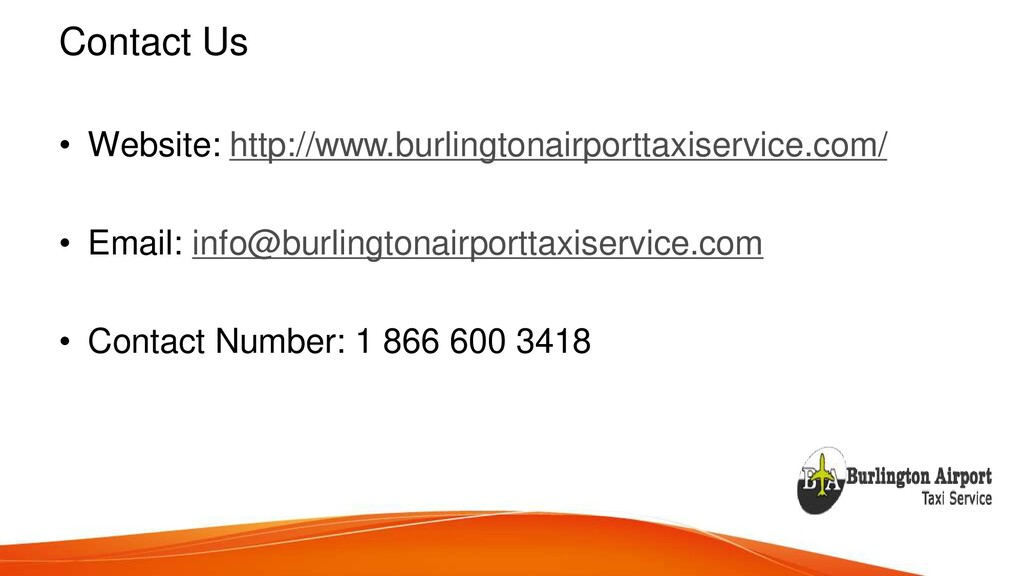 Contact Us • Website: http://www.burlingtonairp...