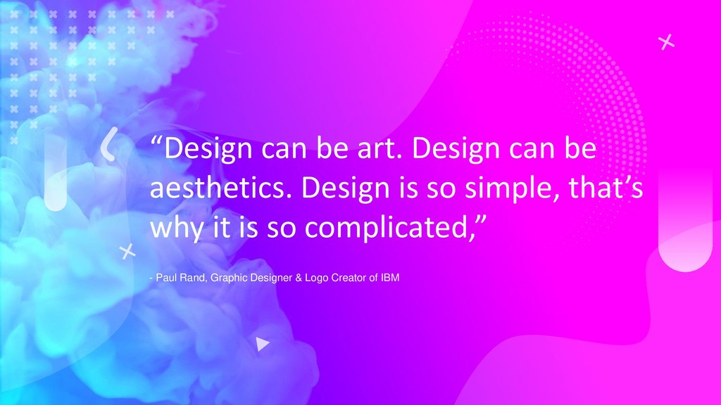 """Design can be art. Design can be aesthetics. D..."